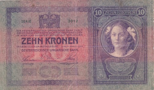 Rakousko-Uhersko, 10 K (2.1.1904), série 3012