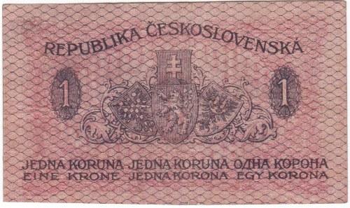 Československo - státovky I. Emise, 1 Kč 1919 série 162, B.7, He.7, neperf