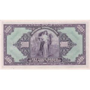 Československo - státovky II. Emise, 5000 Kč 1920, série C č.059896, B.17, He.17, perf