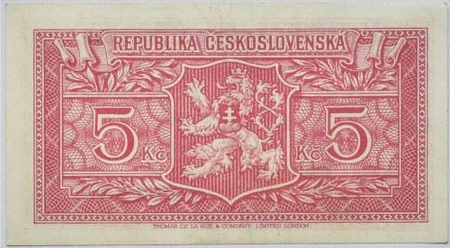 Československo - státovky londýnské emise, 5 Kč b.l. (1945)