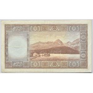 Československo - bankovky a státovky 1945 - 1953, 500 Kč 1946