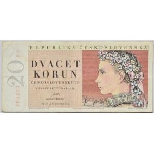 Československo - bankovky a státovky 1945 - 1953, 20 Kčs 1949