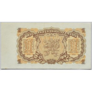 Československo - bankovky a státovky 1953, 1 Kč 1953
