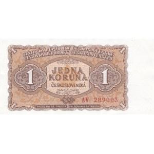 Československo - bankovky a státovky 1953, 1 Kč 1953 série AV Moskva