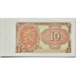 Československo - bankovky a státovky 1953, 10 Kč 1953, série UM 675560