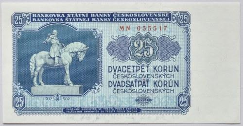 Československo - bankovky a státovky 1953, 25 Kč 1953
