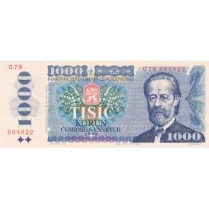 Československo - bankovky 1970 - 1989, 1000 Kč 1985