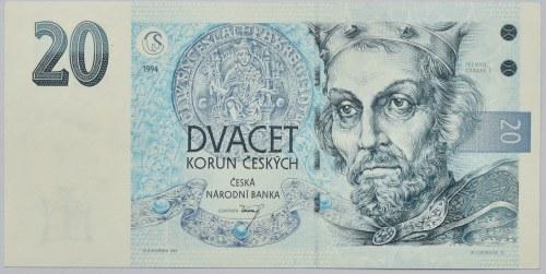 Česká republika, 1992 -20 Kč 1994, série A63 749278
