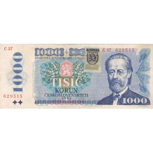 Národní banka Slovenska 1993-2008, 1000 Kč 1985, kolek Slovenská republika