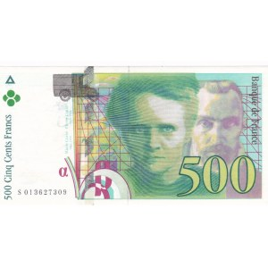 Zahraničí, Francie, Francie, 500 Frank (1995) + 200 Frank (1990)