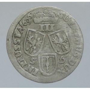 Brandenburg-Preussen, Friedrich III. 1688-1701, III groš 1696 SD Königsberg