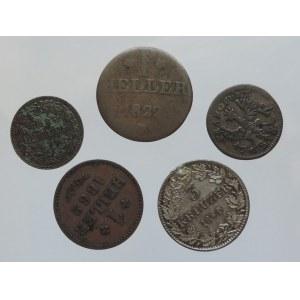 Frankfurt město, 1 krejcar 1773, 1862, 1850, 1822, 1862