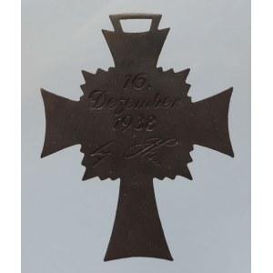 Německo - III. Říše, Záslužný bronzový kříž pro matky 16.12.1938 bez stuhy