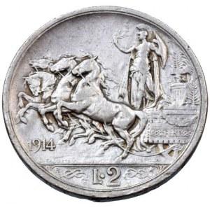 Itálie, Viktor Emanuel III. 1900-1946, 2 lira 1914