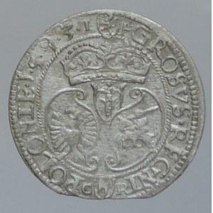 Polsko, Zikmund III. Vasa 1587-1632, groš korunní 1593 Olkusz, Kopicki 737