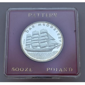 Polsko 1952-1990, 500 zlotých - Dar mlodziezy, plachetnice
