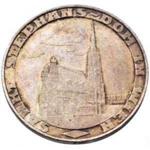 Rakousko republika, 1 stephansgroschen 1950, Ag900, 8.75g