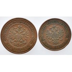 Rusko, Alexander II. 1855-1881, 2 kopějka 1868 SPB, 1 kopějka 1868 SPB