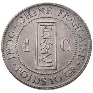 Francouzská Indočína, 1 cent 1889 A