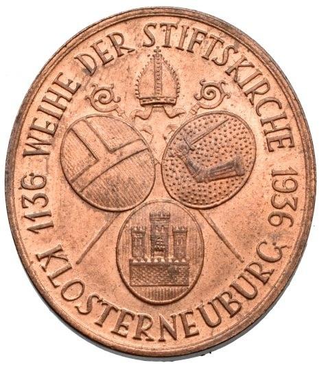 Medaile dle autorů, Hartig - poprsí sv. Leopolda zleva