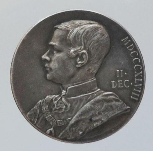 Medaile dle autorů, Scharff, A., medaile AR 26mm, 50 let vlády FJI 1848-1898