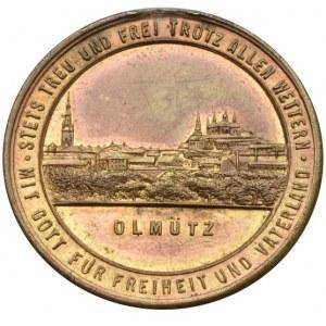 Medaile podle měst, Olomouc - 25. výr. založení mužského pěveckého spolku 1886