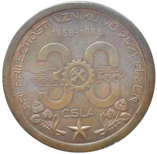 Medaile podle měst, Plzeň, medaile ČSLA
