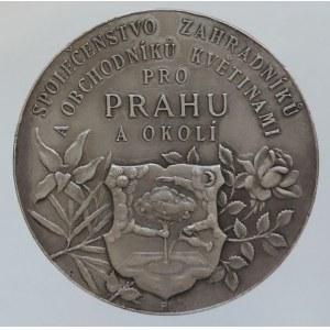 Medaile hospodářské, AR medaile 38mm b.l., Společenstvo zahradníků a obchodníků květinami pro Prahu a okolí