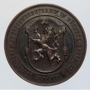 Medaile hospodářské, Bz medaile 40mm, Průmyslová jednota v Čechách