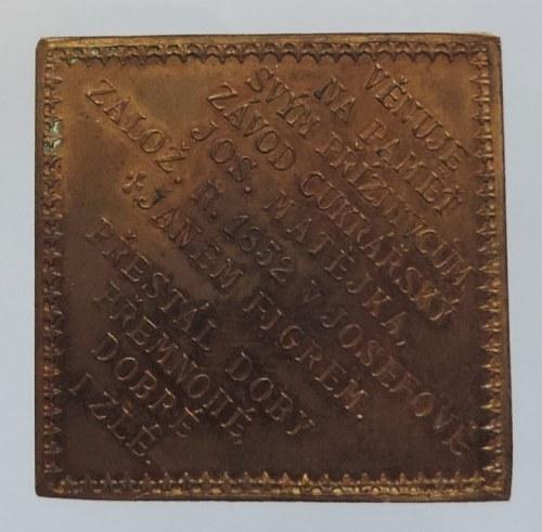 Medaile hospodářské, Cu klipa 33x33 mm (1902), Závod cukrářský J. Matějka v Josefově