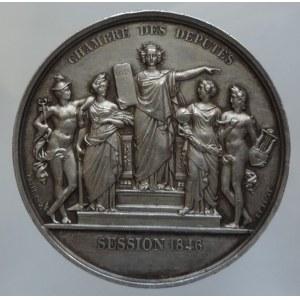 Francie, Ludvík Filip I. 1830-1848, AR medaile Chambres des deputes, session 1846