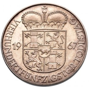 Německo, medaile 1967 na 450. výročí úmrtí Franze von Taxise