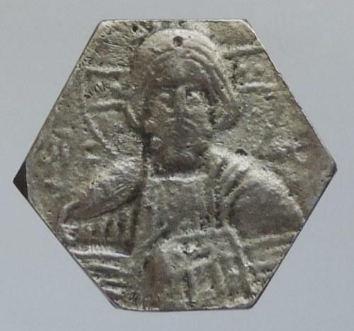 Kopie historických mincí, Byzanc, AE šestihranná mince