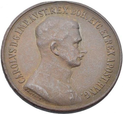 Karel I. 1916-1918, medaile za statečnost  FORTITVDINI