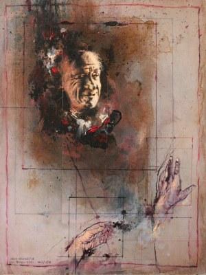 Adam Nowacki, 'Col Tempo (Portrait Of Charles Bukowski) No.12, 2018