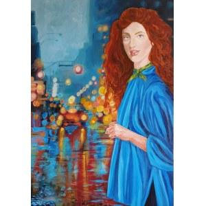 Danuta Kolis, Dziewczyna w niebieskiej pelerynie, 2021