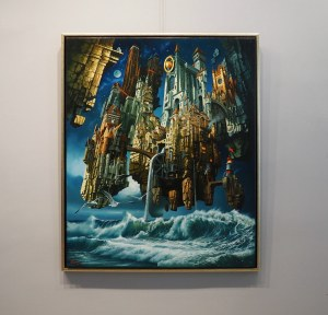 Zbigniew Hinc (ur. 1947), Miasto nad morzem, 2021
