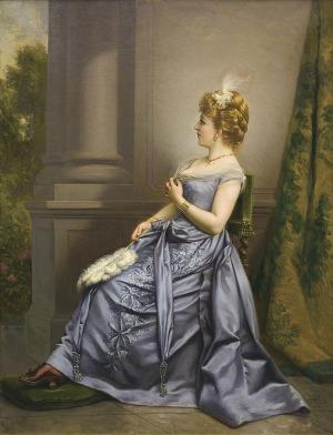 Bakałowicz Władysław, PORTRET DAMY, 1891
