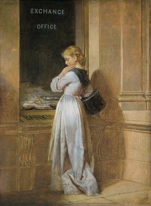 Straszyński Leonard, PRZED KANTOREM, OK. 1870