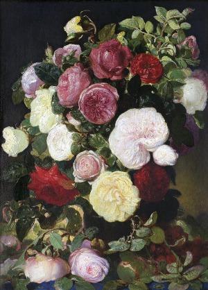 Kwiatkowski Teofil, MARTWA NATURA. RÓŻE, 1867