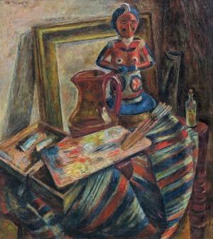 Dołżycki Leon, WNĘTRZE PRACOWNI, 1932