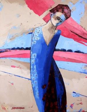 Elżbieta Boukourbane, Różowy obłok, 2019