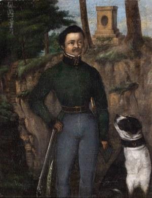 PORTRET LEŚNICZEGO ZE STRZELBĄ I PSEM, ok. 1830