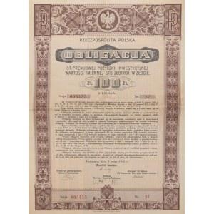 OBLIGACJA NA 100 zł, 01.05.1935