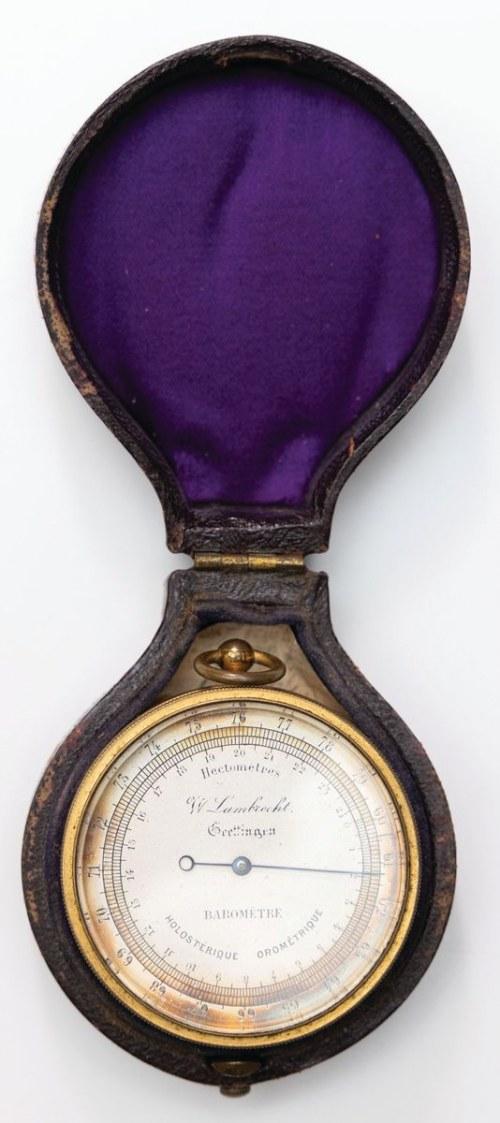 BAROMETR, Niemcy, Getynga, Wilhelm Lambrecht, 2 poł. XIX w.