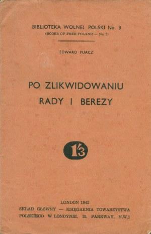PUACZ Edward (1905-1985): Po zlikwidowaniu Rady i Berezy. London: Sgł...