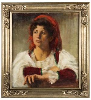 MN (XIX w.), Portret dziewczyny, ok. 1900 r.