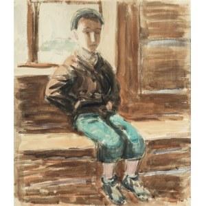 Jerzy Mierzejewski (1917 Kraków - 2012 Warszawa), Chłopiec na ławce, 1948 r.