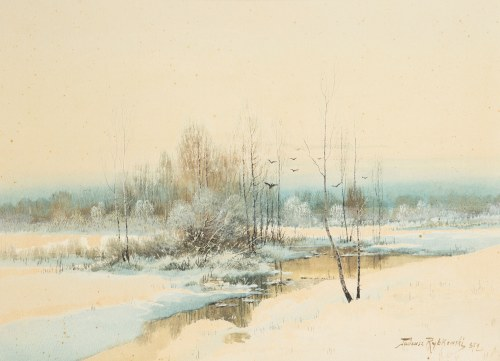 Tadeusz Rybkowski (1848 Kielce – 1926 Lwów), Zima, 1872 r.