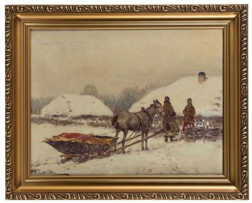 Adam Setkowicz (1875 Kraków - 1945 tamże), Rozmowa przy sanich